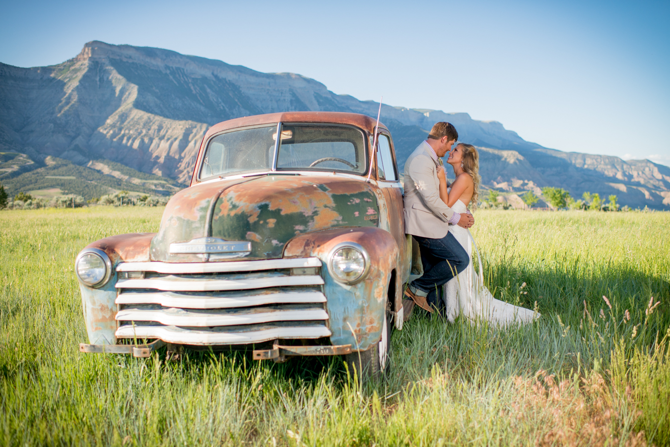 Parachute Colorado Mountain Wedding Natural You Old Chevy Truck